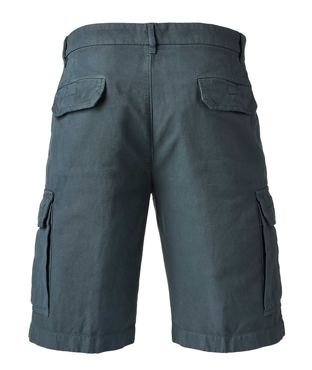 Cotton Linen Bermuda Cargo Shorts   picture 2