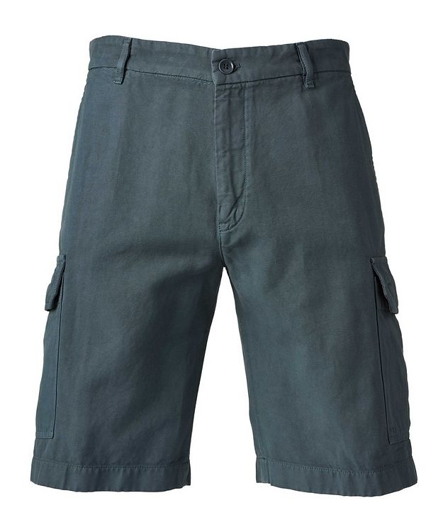Cotton Linen Bermuda Cargo Shorts   picture 1