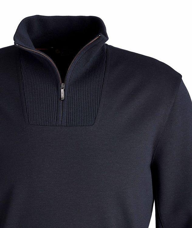 Stretch-Wool Quarter-Zip Sweater picture 2