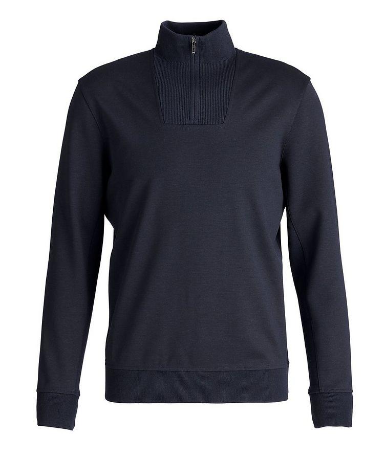 Stretch-Wool Quarter-Zip Sweater image 0