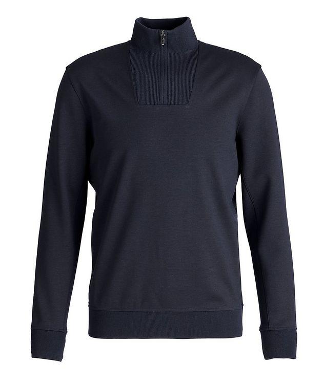 Stretch-Wool Quarter-Zip Sweater picture 1
