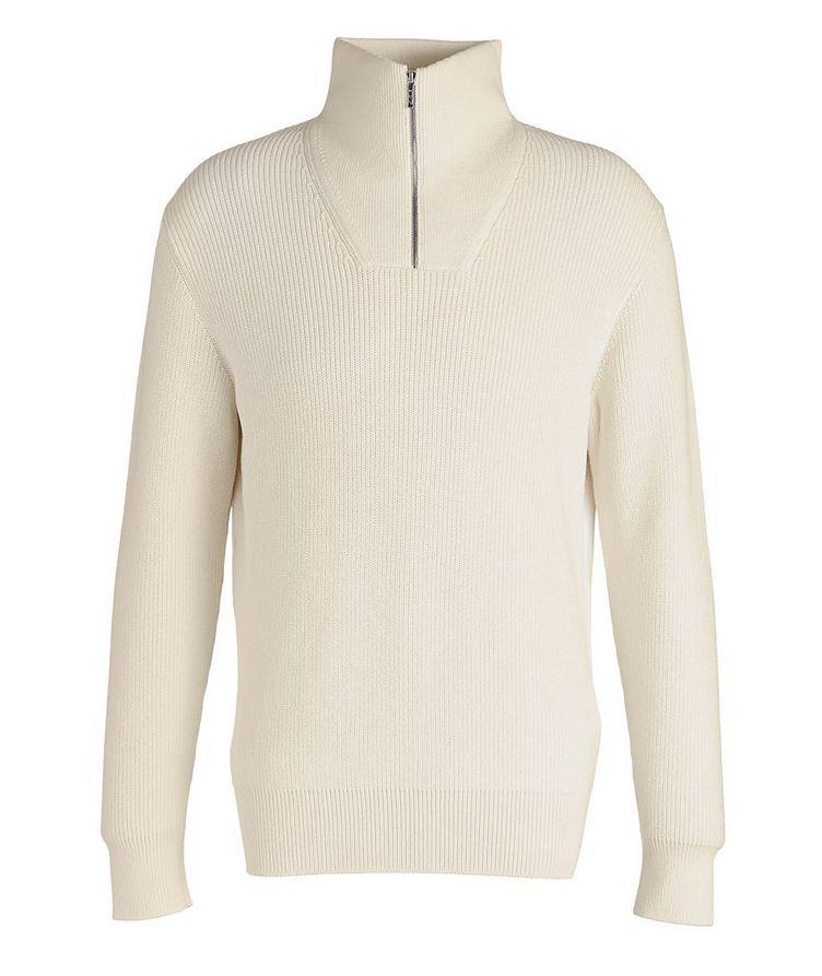 Half-Zip Cotton-Silk Sweater image 0