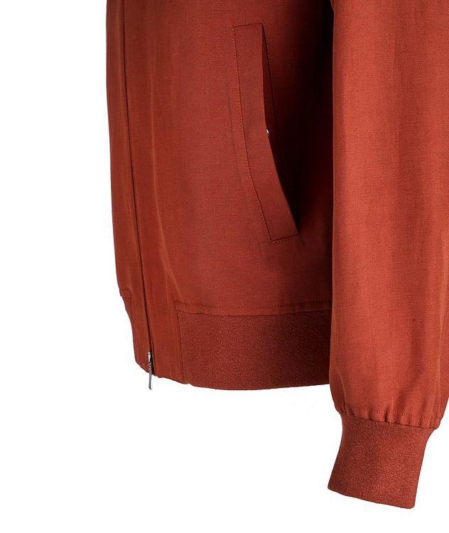 Ivy Linen-Silk Rain System Bomber Jacket picture 4