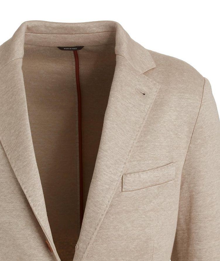 Linen Flower Sweater Sports Jacket image 2