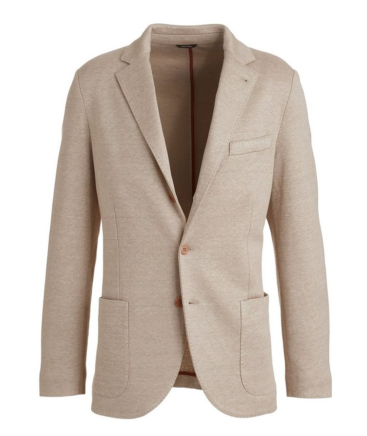 Linen Flower Sweater Sports Jacket image 0