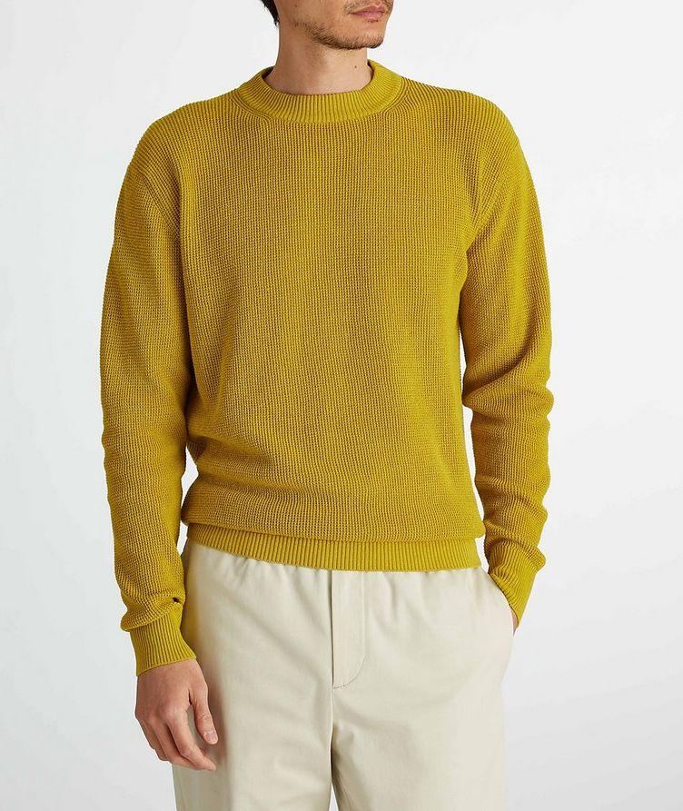 Prescott Silk-Linen Waffle Knit Sweater image 2