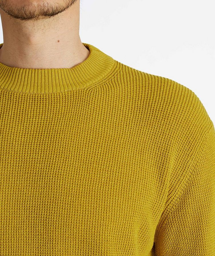 Prescott Silk-Linen Waffle Knit Sweater image 3