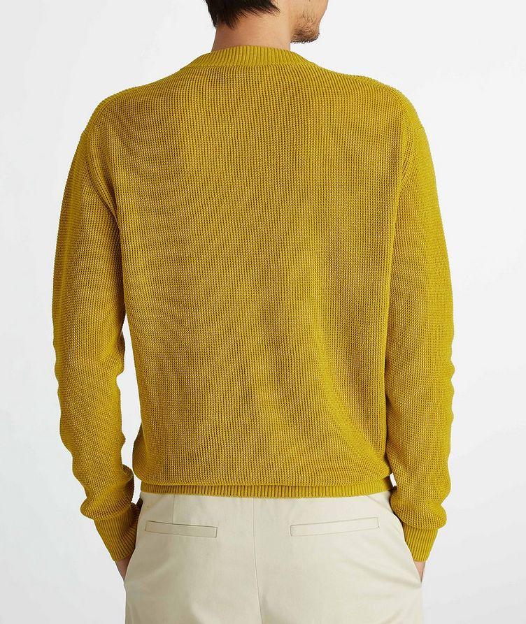 Prescott Silk-Linen Waffle Knit Sweater image 4