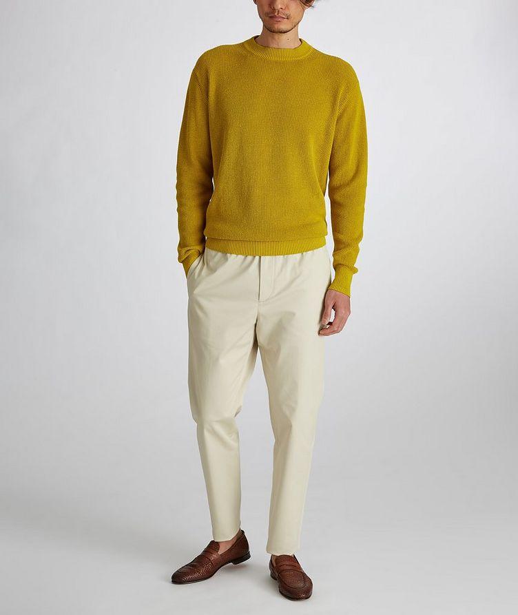 Prescott Silk-Linen Waffle Knit Sweater image 5