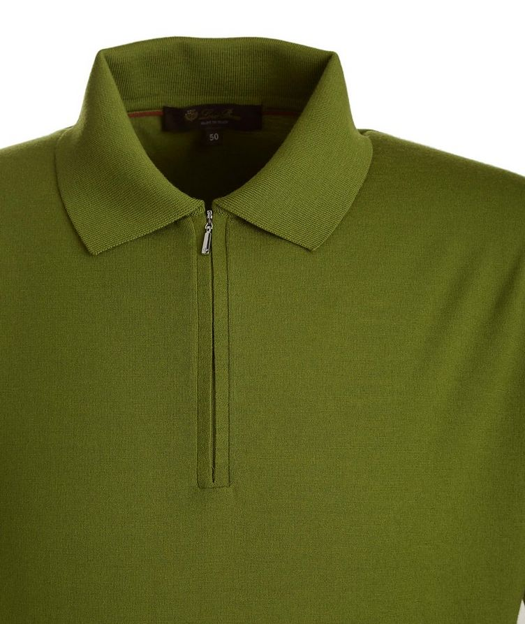 Wish Quarter-Zip Knit Wool Polo image 1