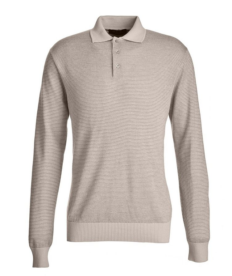 Woodmere Silk-Cashmere-Linen Knit Polo Sweater image 0