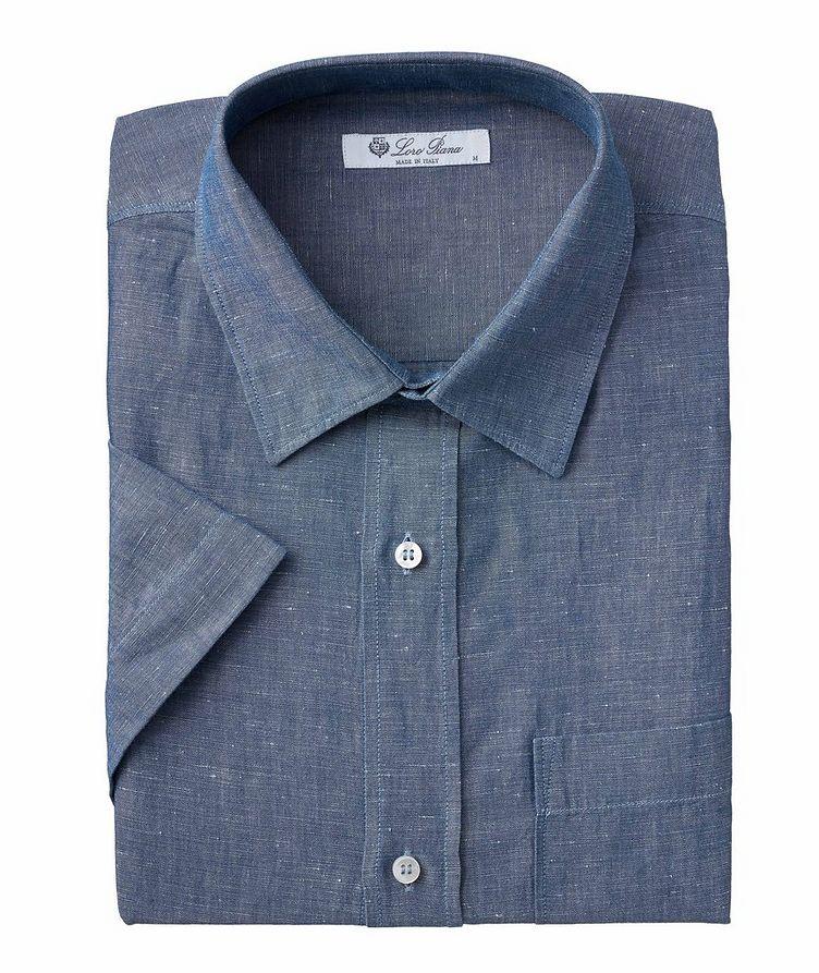 Oliver Cotton-Flax Denim Short Sleeve Shirt image 0