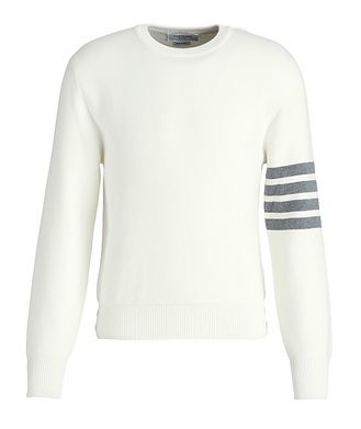 Thom Browne Striped-Sleeve Cotton Sweater