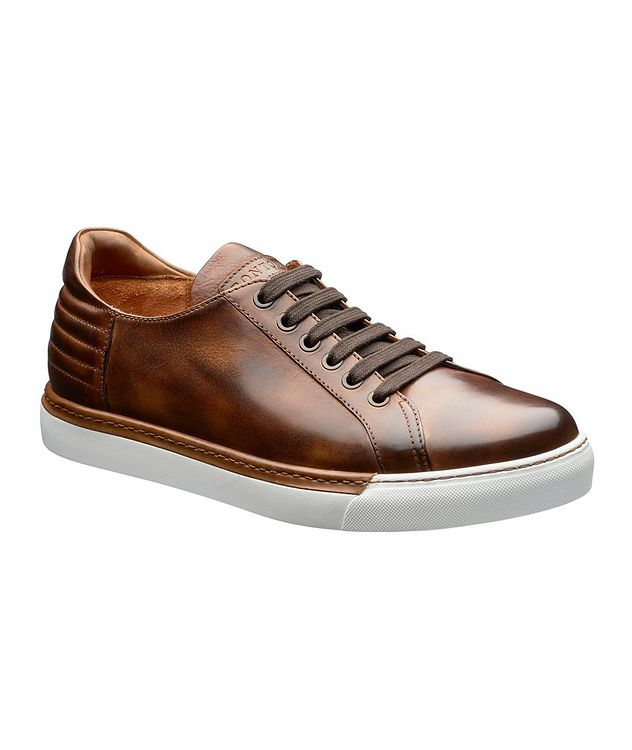 Burnished Leather Sneakers picture 1
