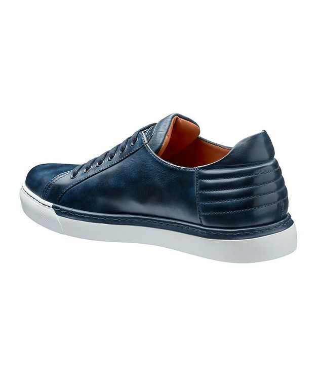 Burnished Leather Sneakers picture 2