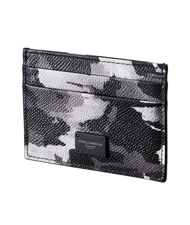 Camouflage Leather Cardholder image 0