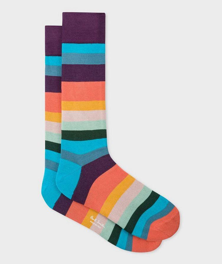 Striped Cotton-Blend Socks image 0