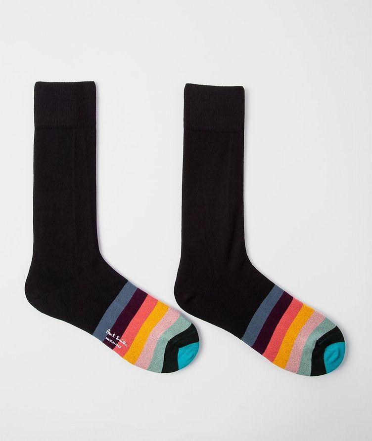 Striped Stretch-Cotton-Blend Socks image 1