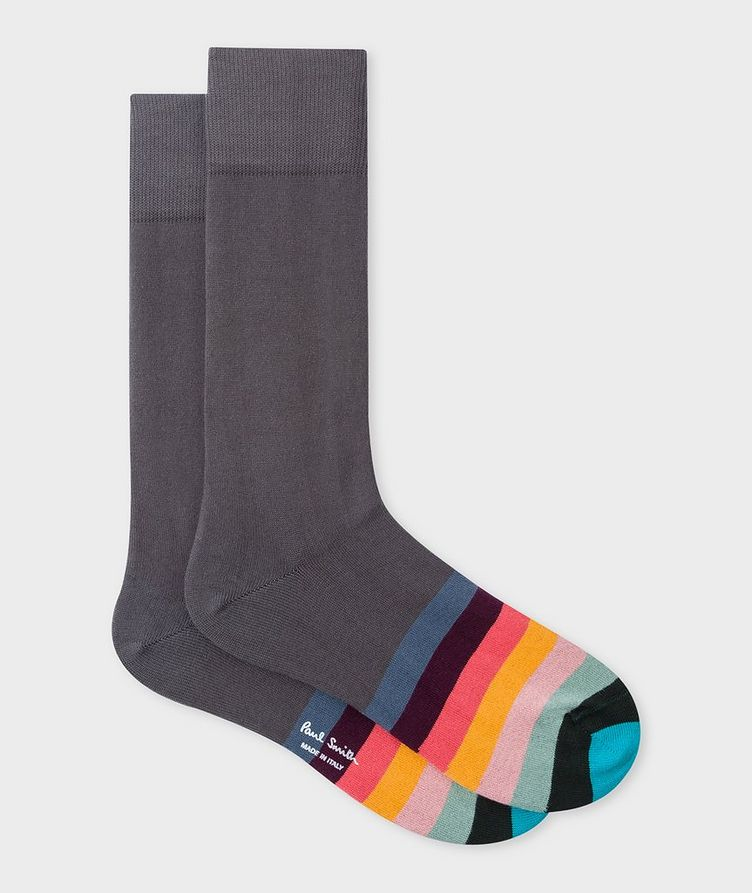 Striped Stretch-Cotton-Blend Socks image 0