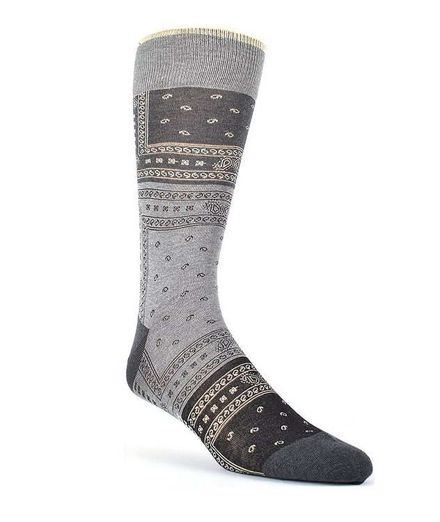 Printed Cotton-Blend Socks picture 1