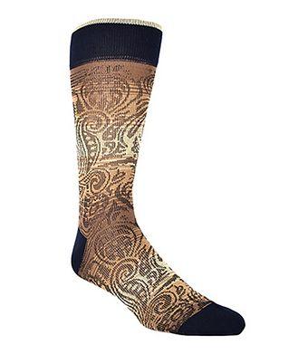 Dion Printed Cotton-Blend Socks
