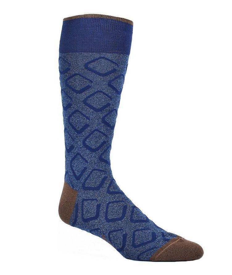 Printed Cotton-Blend Socks image 0