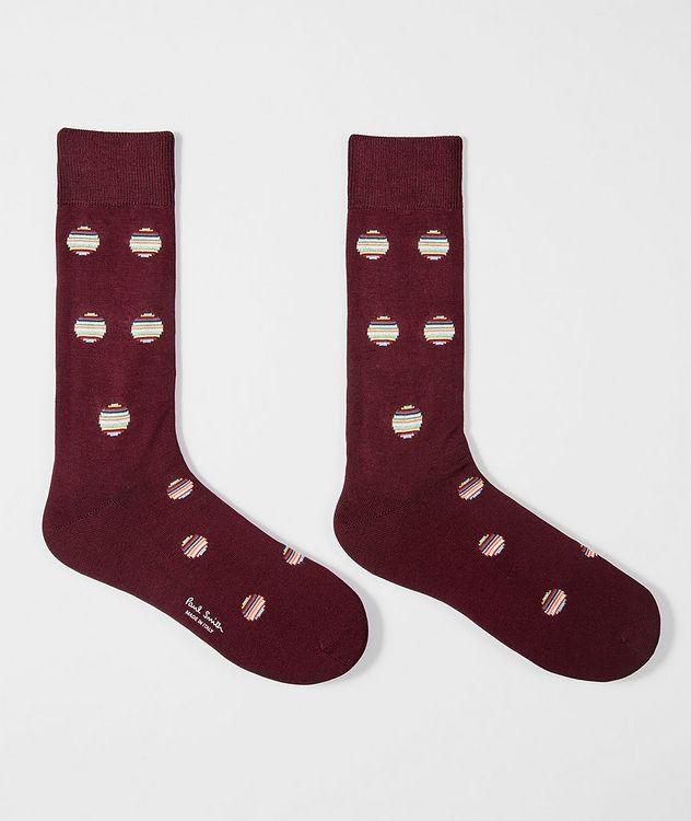Polka Dot Cotton-Blend Socks picture 2