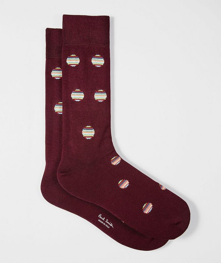 Polka Dot Cotton-Blend Socks image 0