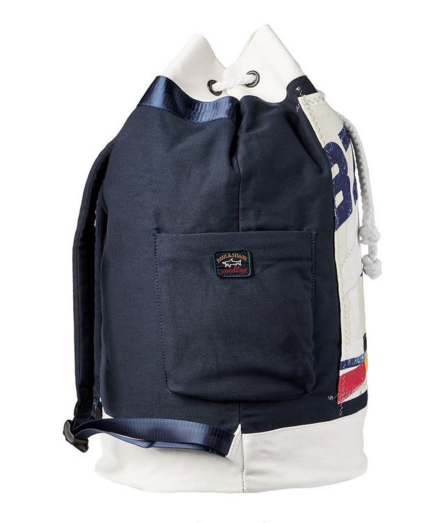 Printed Cotton Sailing Backpack picture 4