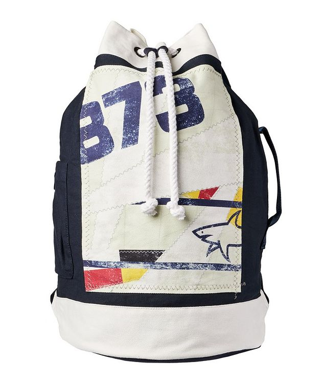 Printed Cotton Sailing Backpack picture 1