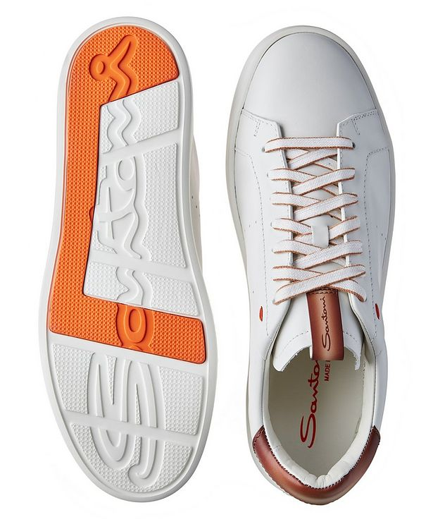 Calfskin Low-Top Sneakers picture 3