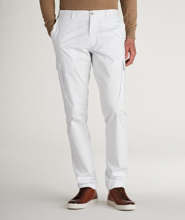 Slim Fit Stretchy-Cotton Cargo Pants picture 2