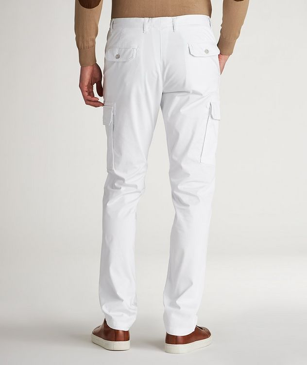 Slim Fit Stretchy-Cotton Cargo Pants picture 3
