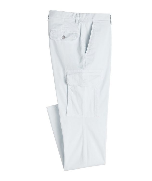 Slim Fit Stretchy-Cotton Cargo Pants picture 1