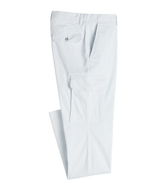 Isaia Slim Fit Stretchy-Cotton Cargo Pants