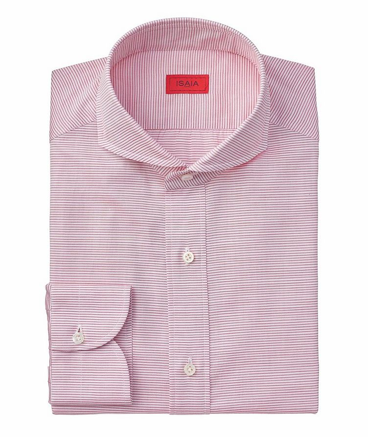 Contemporary Fit Striped Cotton Dress Shirt image 0