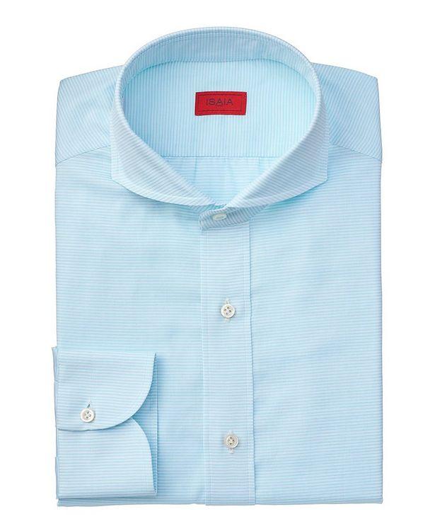 Chemise habillée en coton à rayures de coupe contemporaine picture 1