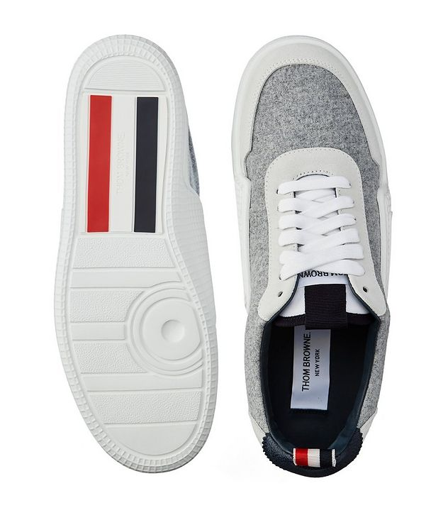 Basketball Low-Top Flannel Sneakers picture 3