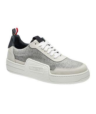 Thom Browne Basketball Low-Top Flannel Sneakers