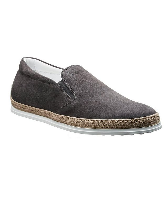 Suede Espadrille Slip-Ons picture 1