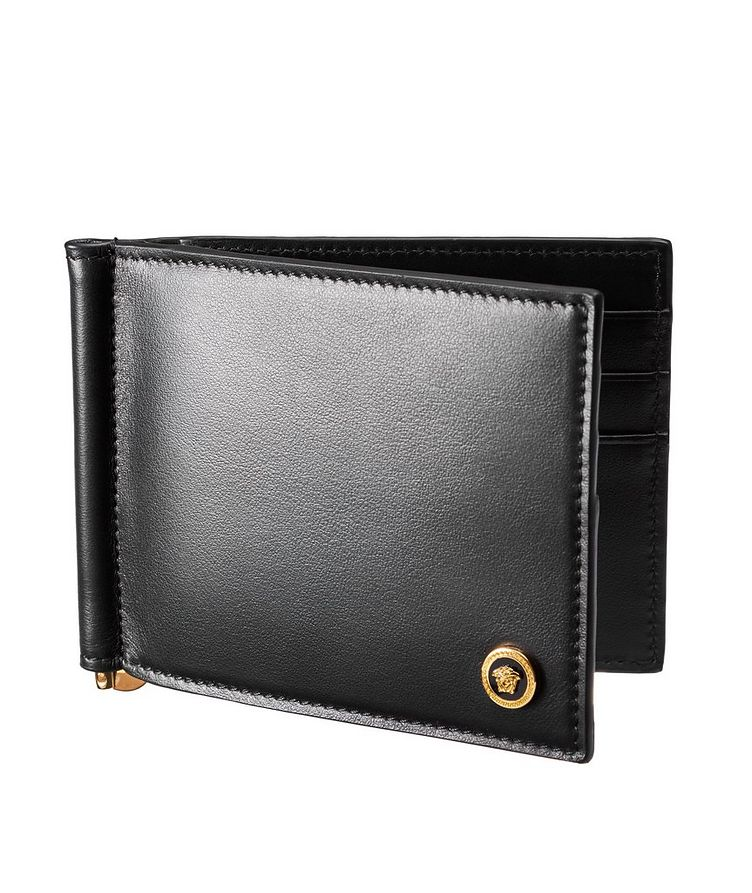 Medusa Calfskin Bifold Wallet with Money Clip image 0