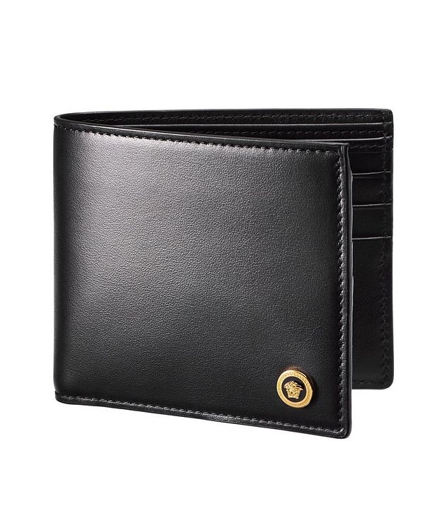 Portefeuille plié en cuir de veau avec logo de Méduse picture 1