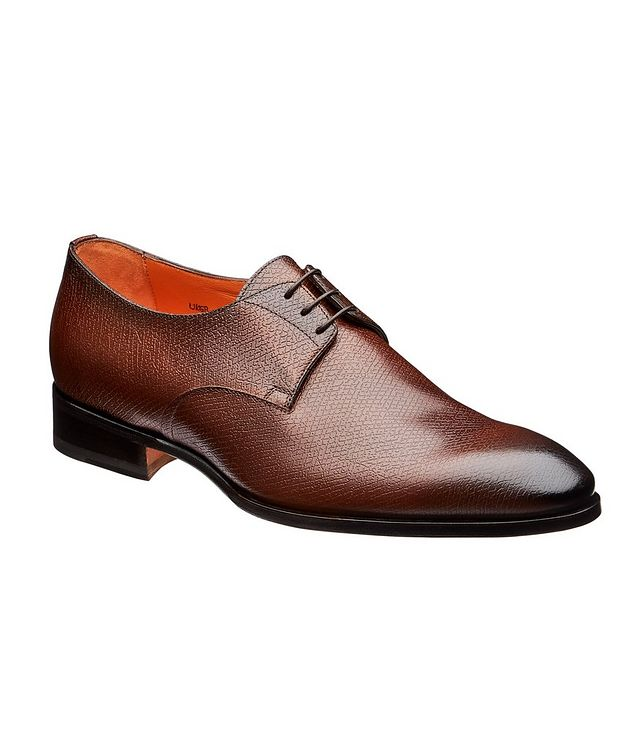 Textured Leather Derbies picture 1