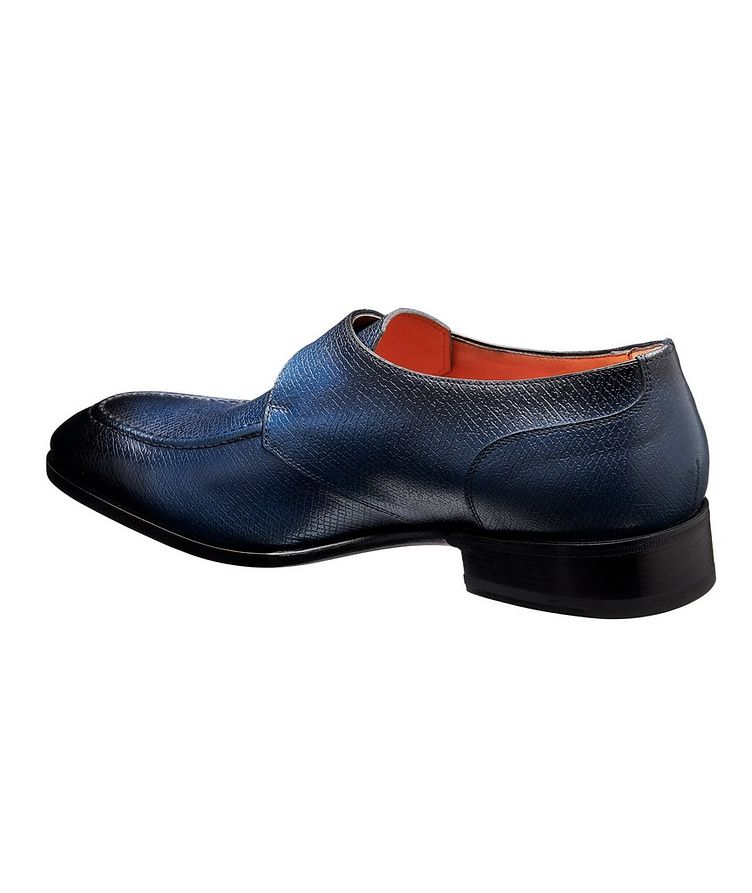 Textured Leather Monk-Straps image 1