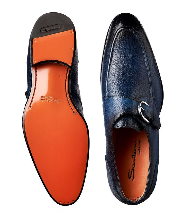 Textured Leather Monk-Straps image 2