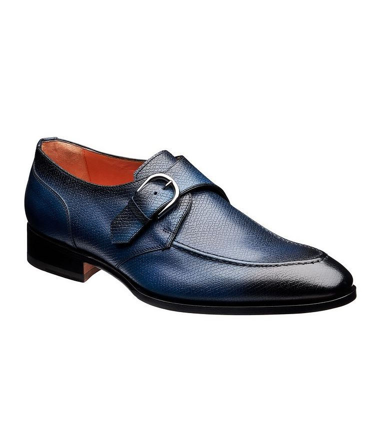 Textured Leather Monk-Straps image 0