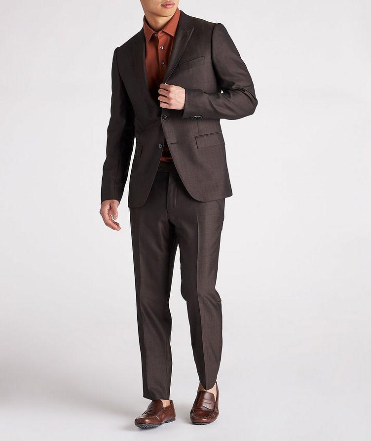 City AchillFarm Striped Wool-Silk Suit image 1