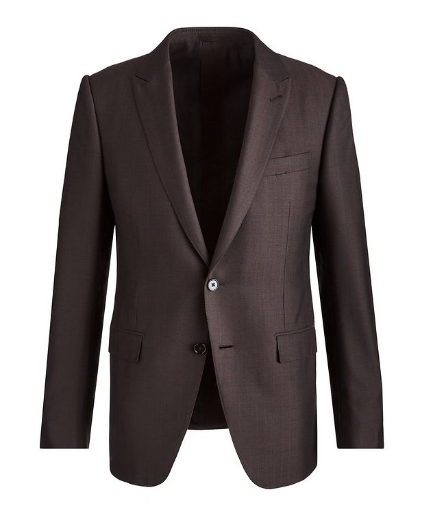 City AchillFarm Striped Wool-Silk Suit picture 1