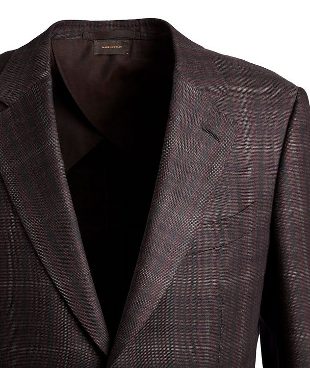 Couture Plaid Cashmere-Silk Sports Jacket picture 2