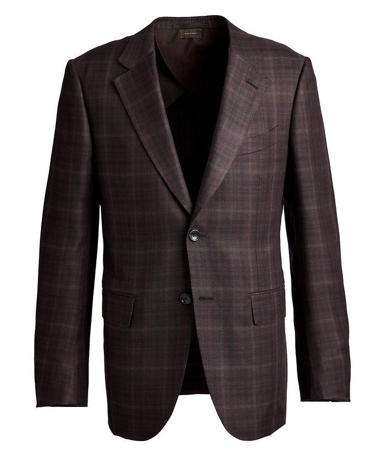 Couture Plaid Cashmere-Silk Sports Jacket image 0
